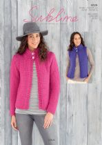 Sublime Lola  Super Chunky - 6124 Waistcoat & Jacket Knitting Pattern